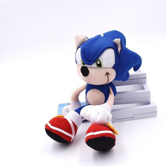 Boneco De Pelúcia Sonic 30 Cm