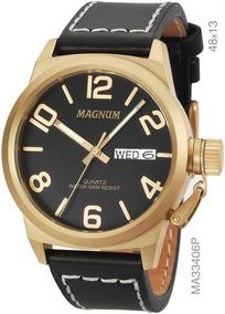 Relógio Magnum Masculino Analógico Couro Ma33406p Magnum