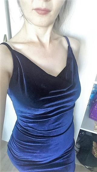 Vestido Veludo Casual Festa Bodycon Elastano Elegante Noite