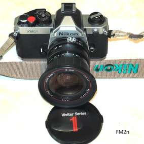 Câmera Analógica Nikon Fm2n + Vivitar Série 1 19-35mm