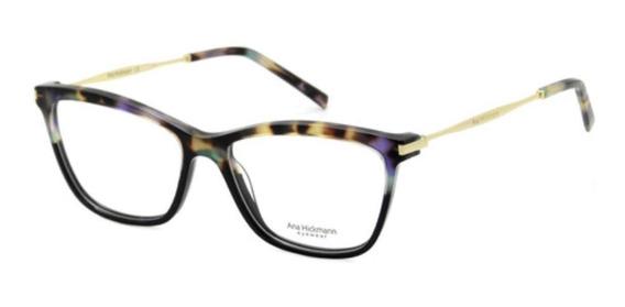 Óculos De Grau Ana Hickmann Ah6254 C02 Roxo Tartaruga Dourad