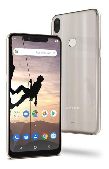 Smartphone Multilaser Tela 6,2 4gbram 64gb 12mp+5mp Dourado
