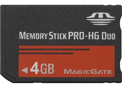 Tarjeta Memoria Memory Stick Pro Duo 4gb Sony Psp Camaras