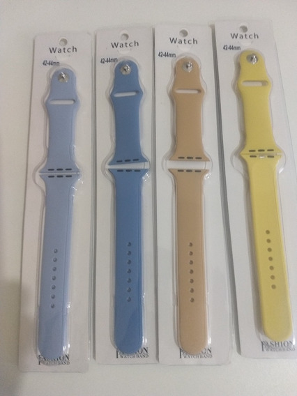 Kit 4 Pulseiras Apple Watch Silicone 42mm 44mm Frete Gratis