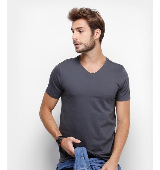 Kit 14 Camisetas Gola V Masculina 6 Babylook Feminina Blusa