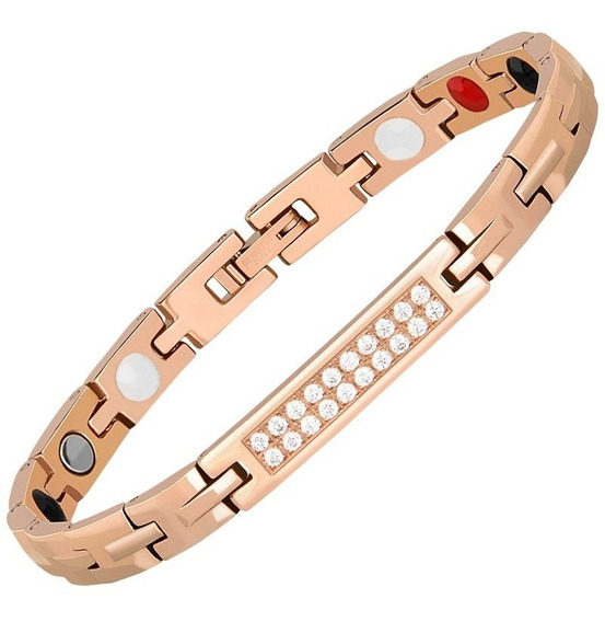Bracelete 5terapias Cobre Magnética-infra-vermelho Ions(-)ge