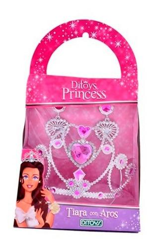 Set De Tiara Con Aros Princess Ditoys 2195