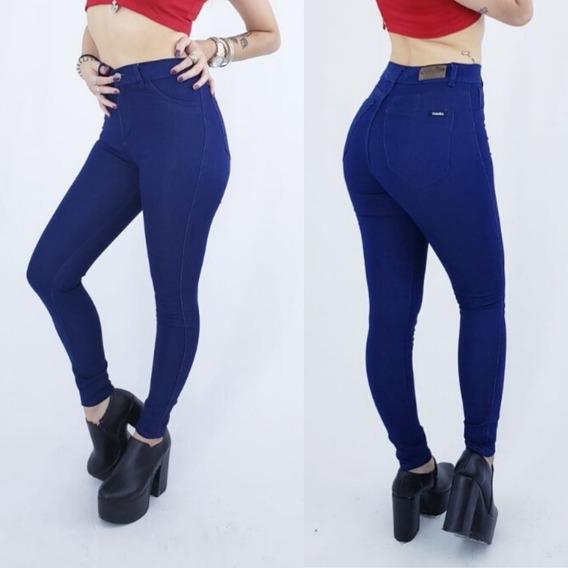 Jeans De Mujer Chupin Elastizado Tiro Alto 1001