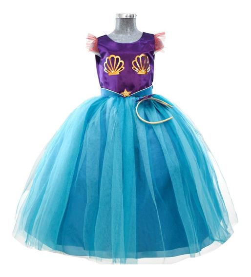 Vestido La Sirenita Elegante Ariel Fiesta