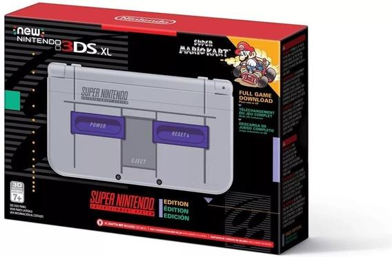 New Nintendo 3ds Xl Snes Edition Super Nintendo - Novo!