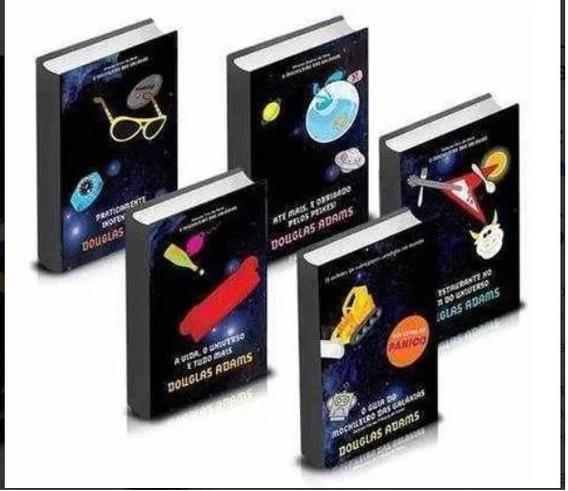 Coleção Completa: Guia Do Mochileiro Das Galáxias 5 Edições