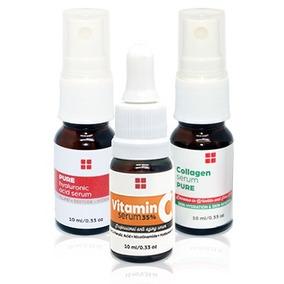 Kit Serum Dermaroller - Vit C + Acido Hialuronico + Colageno