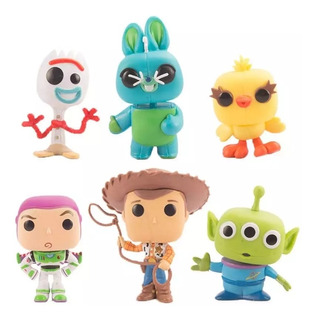 Funko Pop Bootleg Toy Story 4 Forky Buzz Woody Baratos