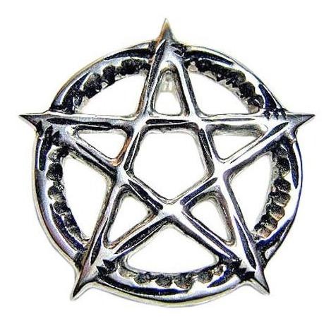 Pentagrama Estrela Flamejante Em Prata