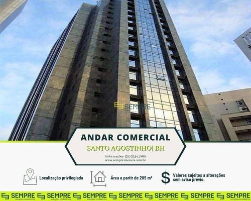 Imagem 1 de 18 de Andar Corporativo Para Alugar, 205 M² - Santo Agostinho - Belo Horizonte/mg - Ac0020