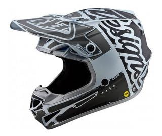 Casco Troy Lee Designs Se4 Polyacrylite Factory Helmet Silve
