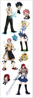 Plancha De Stickers De Anime Fairy Tail