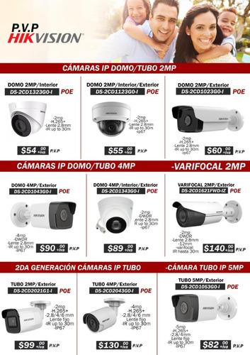 Imagen 1 de 9 de Camara Ip Hikvision Para Exterior Tubo O Domo Poe 2mp Hd