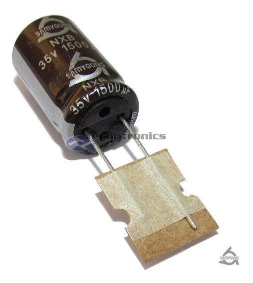 Kit 10 Capacitor Eletrolitico 1500uf X 35v Sam Young 105ºc