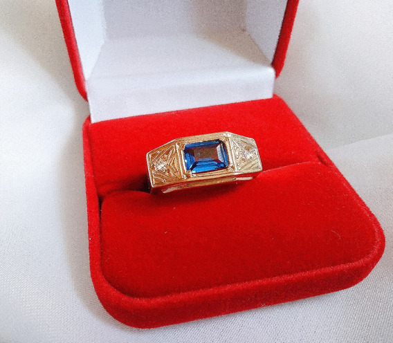 Anel De Formatura Masculino Prata 950 + Banho De Ouro 18 K!
