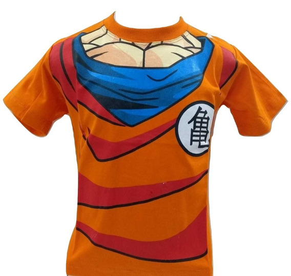 Camiseta Camisa Dragon Ball Z Corpo Manga Curta Infantil