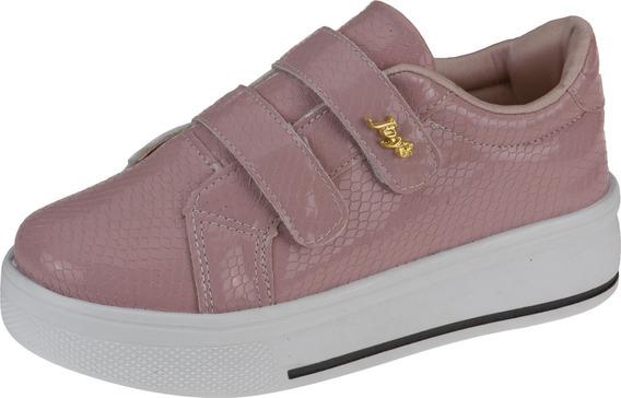 Tênis Feminino Infantil Leve Velcro Calce Fácil Confort