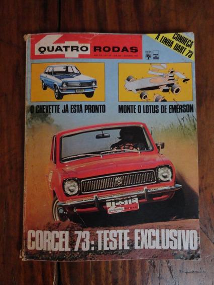 Revista Quatro Rodas 1972 Corcel, Honda Cb 125