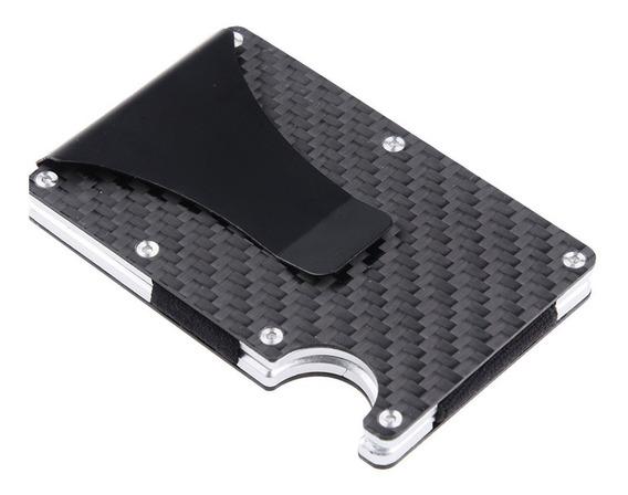 Carteira Porta Cartão Metal Masculino Pequena Clip Antifurto