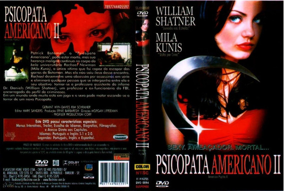 Filme Dvd Usado Psicopata Americano 2