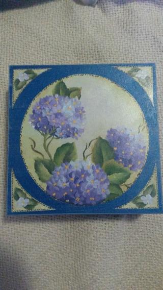 Caixa Caixinha Azul Com Forro De Veludo