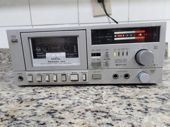 Tape Deck Technics Rs-m04 Funcionando Muito Bem Portátil