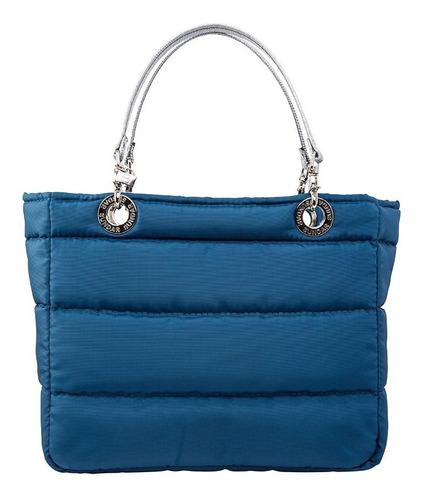 Imagen 1 de 6 de Bolsa Original Sundar Basica Con Cierre Color Azul Cobalto