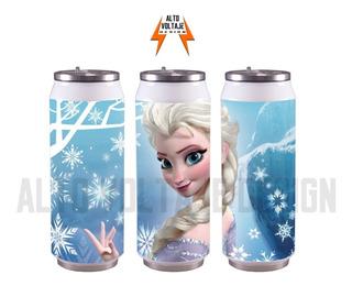 Lata Botella Nombre Termica Frozen Fortnite Superheroes Y +