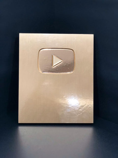 Youtube Placa Oro