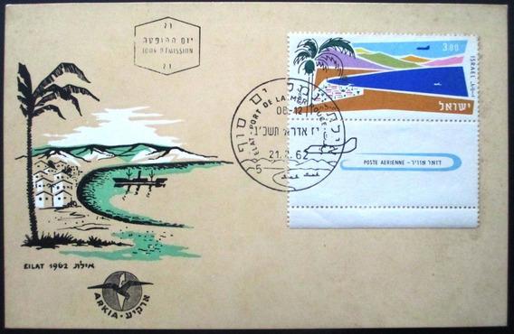 C8138 Israel - Cartão Postal Aéreo Fdc Com Selo Yvert Nº A7
