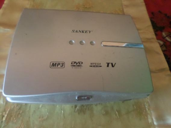 Dvd Portátil Con Tv A Color Marca Sankey Para Reparar (8 $)