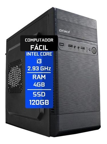 Imagem 1 de 4 de Computador Fácil Intel Core I3 4gb Ddr3 Ssd 120gb