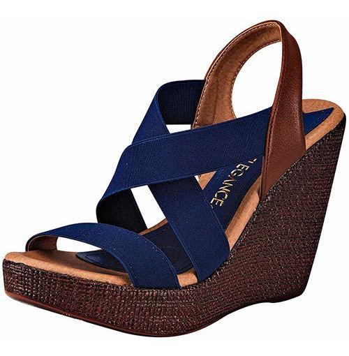 Sandalia Casual Paulie Tacon 11cm Azul Niña Ankle 18484ipd