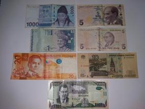 7 Cedulas Raras 100 Dolares Jamaica 10 Gahka Russia