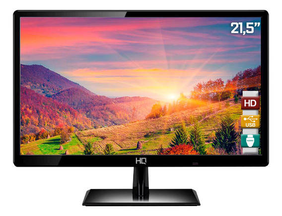 Monitor Led 21.5 Hq Widescreen Full Hd 22hq-led Hdmi