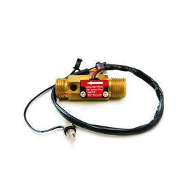 Sensor Hall Medidor Fluxo 1/2 1-25l Com Temperatura Ntc 50k