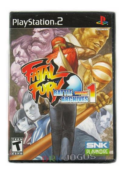 Fatal Fury Battle Archives Vol 1 Lacrado Ps2 Frete Grátis!
