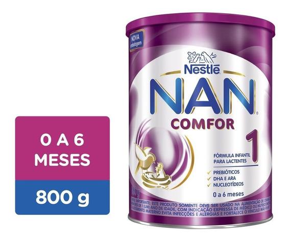 Kit 6 Leite Nan Comfor 1 800g - Nestlé - Frete Grátis