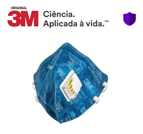 Imagem 1 de 5 de 10 Máscara Azul 3m 9822 Pff2 Com Válvula N95 -c/ Nota Fiscal