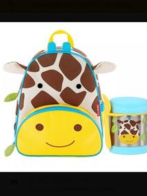 Kit Skip Hop Zoo Girafa Mochila+pote Térmico