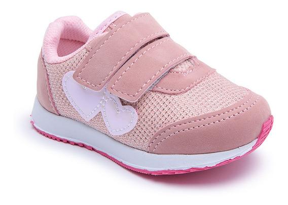 Tenis Infantil Feminino Velcro Leve - Via Vip Vnj156