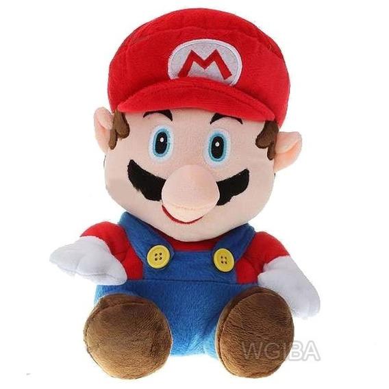 Boneco Pelucia Super Mario Bros 22cm Musical + Balão
