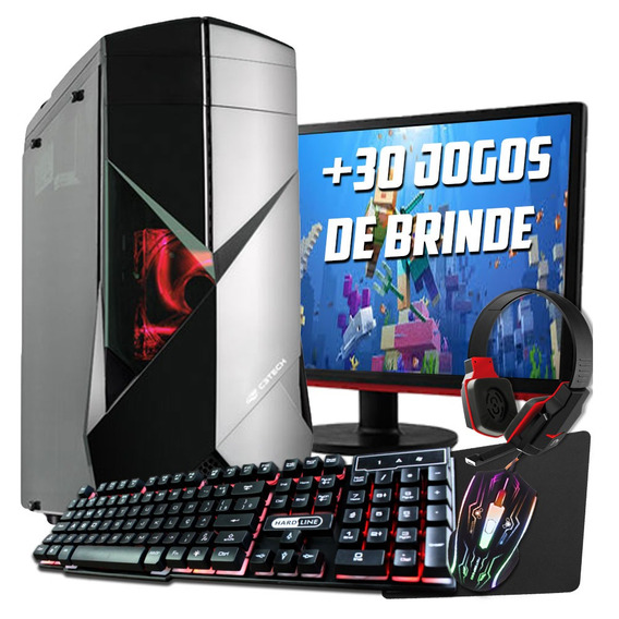 Pc Gamer Core I5 7400 .16gb, Gtx1060 6gb+ Monitor 21 Full Hd
