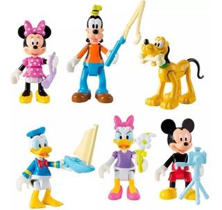 Set 5 Muñecos Mickey Sobre Ruedas Articulados Original