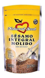Semilla De Sesamo Integral Molido Natural Seed X 250 Gr